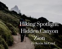 Kevin McCord, NYC, on Hidden Canyon Zion