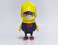 035_Snow beach [Paper Toy Boogie Hood]