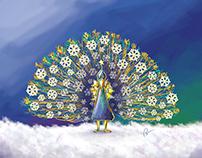 X'mas peacock