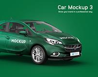Opel Corsa Car Mockup