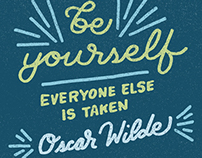 Be Yourself (Oscar Wilde quote)