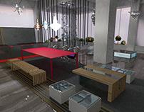 G Flower Interior design using designer furnishings.