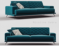 Nicoline sofa Gebra 3d model