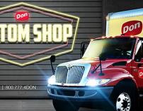 Don Custom Shop Logo and Banner Design