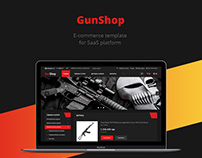 Gun shop/E-commerce template/Web design/UI/UX