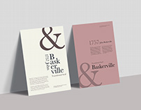 Baskerville Typographic Poster
