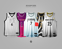 Rap Album Covers x NBA Jerseys