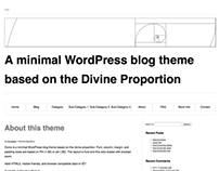 Dvine - A WordPress them based on the golden ratio