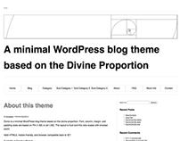 Dvine - A WordPress them based on the golden ratio