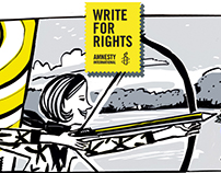 AMNESTY INTERNATIONAL correndo con Zunar