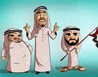 Arabs character design