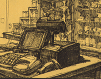 Drawings 'Behind the counter'