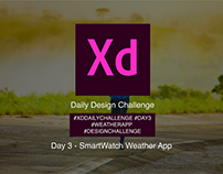 AdobeXD Daily Challenge - SmartWatch Weather App