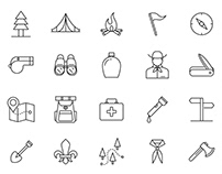 20 Scout Vector Icons