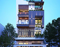 Mẫu nhà biệt thự phố mặt tiền 8m đẹp tại HCM