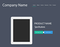 Product Display Website Layout Design - Ecommerce