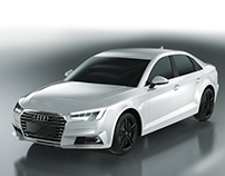 Audi A4 modeling&rendering