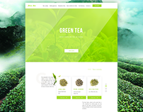 Landing page for green tea