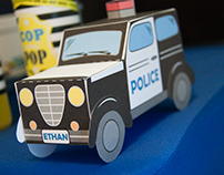 Cops and Robbers gift box design