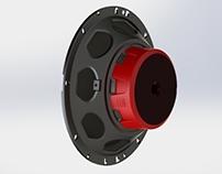 speaker back cover rubber unit