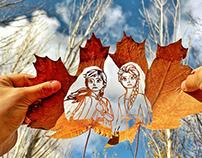 Leaf Cutout Art Anna Elsa