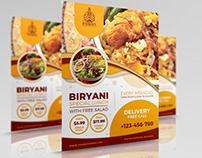 Biryani Restaurant Flyer Template