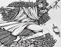 Book illustrations Part 2: Auroranora - Queen Lillaj