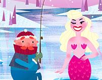 Mermaid fishing