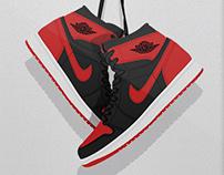 Retro Air Jordan Hanging Kicks Illustrations