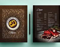 Menu design for Schokolade House
