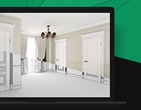 3D для просмотра дверей в интерьере на сайте