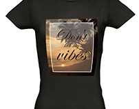 Дизайн принту жіночої футболки.