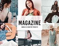 Free Magazine Mobile & Desktop Lightroom Presets