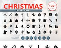 125 Christmas Glyph Icons