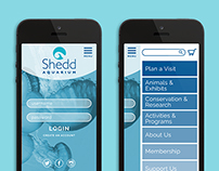 Shedd Aquarium Website Re-Design