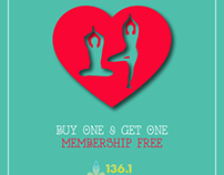 136.1 Yoga Studio Ahmedabad - Valentine Day Offer