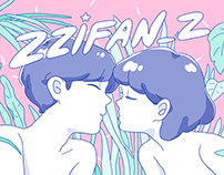 ZZIFAN_Z KISS POSTCARD / POSTER
