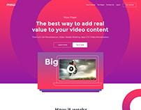 Mow Player website design