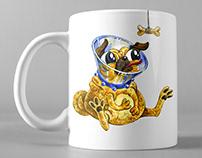 Unhappy Pug on Mug (and other goods)