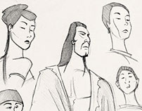 Wuxia Faces - Illustration