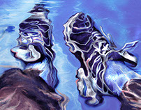 Sneakers Underwater