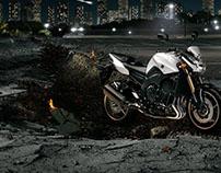 New FZ8. 800 cc 4-cylinder.
