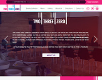 Two Three Zero Web site project