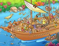 Children's magazine Illustration - May issue