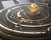 Steampunk Astrolabe Table with Ui