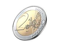 2 Euro - 3D modeling