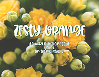 Zesty Orange : A Quirky Mixed Case Font
