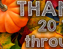 International Living Thanks Giving Web Banners 2014