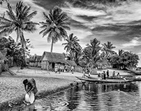 Madagascar B&W : Landscapes and villages