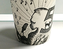Personalized doodles | Paper Cup Art